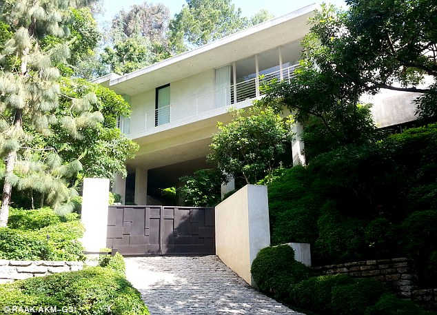 Plenty of room: The modern home looked like it had plenty of room for a growing family