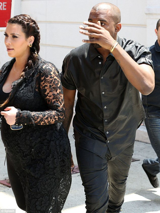 Not happy: Kanye was seemingly left in a lot of pain