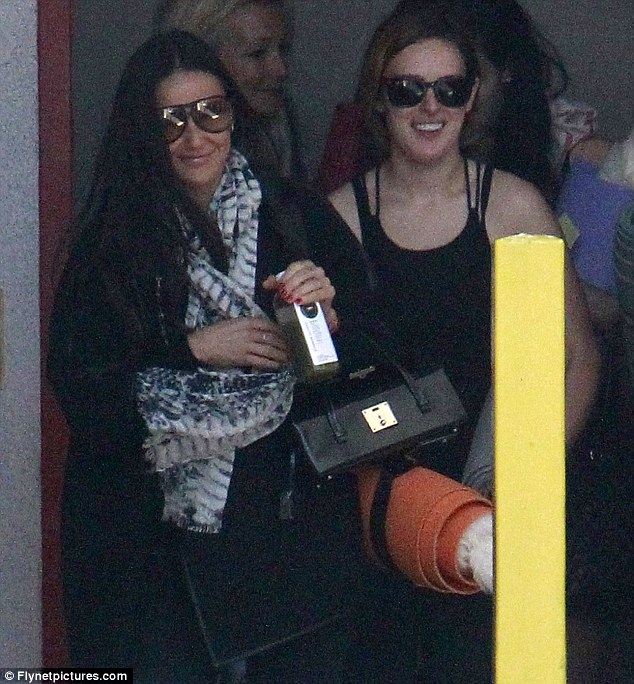 Healing old wounds: Demi and Rumer were seen leaving a yoga class at the end of April, the first time they had been pictured together in months after a period of estrangemet