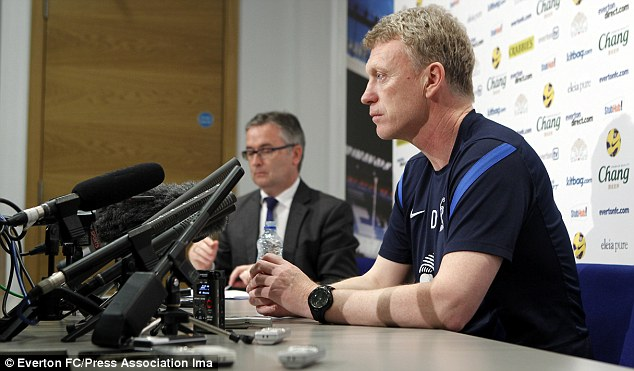 In the spotlight: David Moyes will replace Ferguson at Manchester United at the end of the season