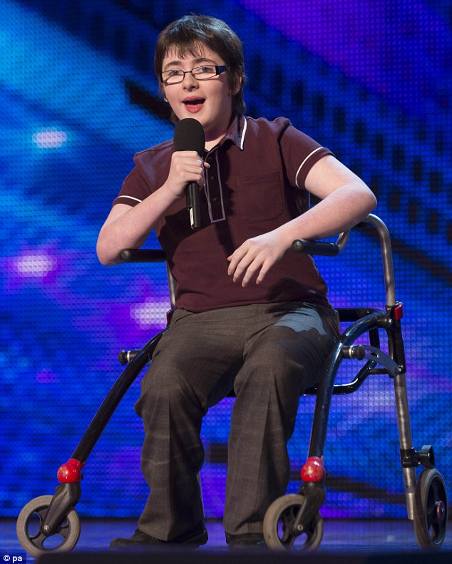 14-year-old comedian Jack Caroll was contacted by the show to audition after he won a prize at last year's Pride of Britain Awards