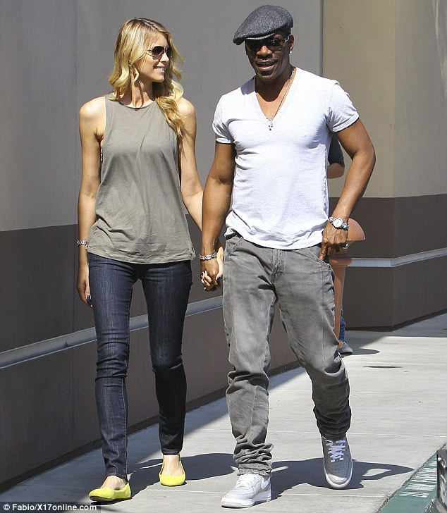Toned arms: Eddie and Paige wore outfits that showed off their lean limbs