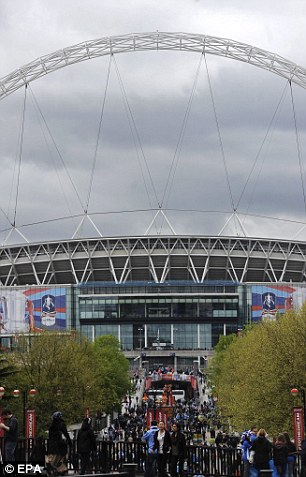 Home of football: A view of Wembley before the FA Cup final