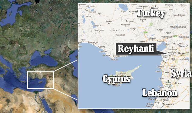 The blasts took place right on the Syrian border in the town of Reyhanli