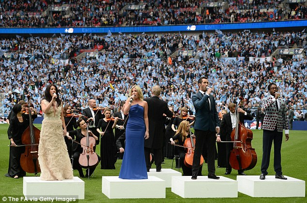 Tradition: Amore with the Royal Philharmonic Orchestra perform Abide With Me and the national anthem