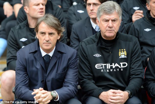 Patient: Mancini sits right with Brian Kidd before today's final, but where does his future lie?
