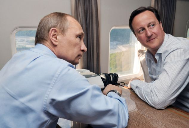 New partnership: The helicopter ride came as it was announced that British and Russian security services would work together for the Winter Olympics