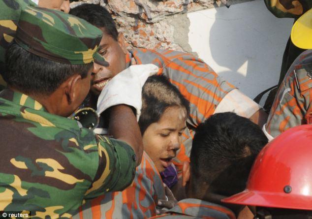 Survivor: Miss Begum was uninjured save for her hair getting trapped under a boulder