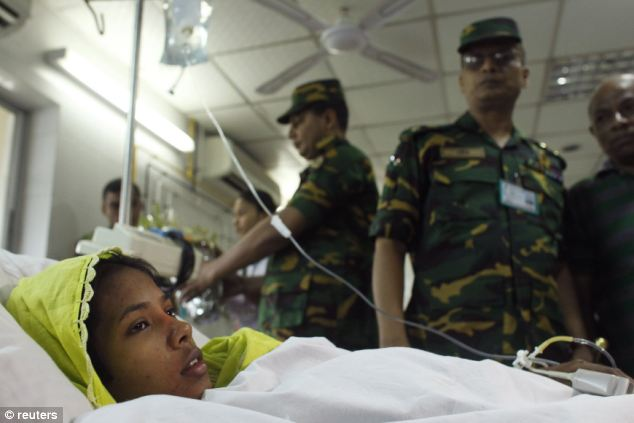 In safe hands: Miss Begum is recovering at a military hospital
