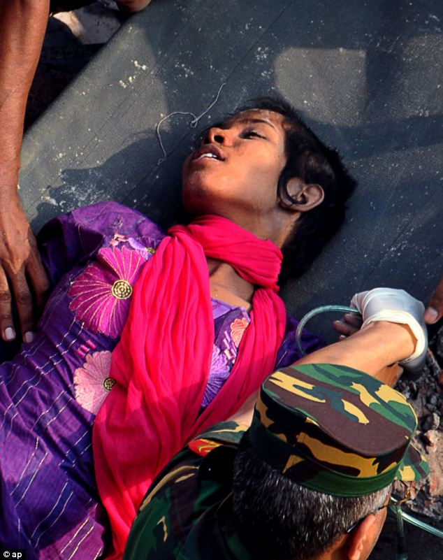 Miracle: Reshma Begum was pulled from the rubble alive 17 days after the garment factory collapsed