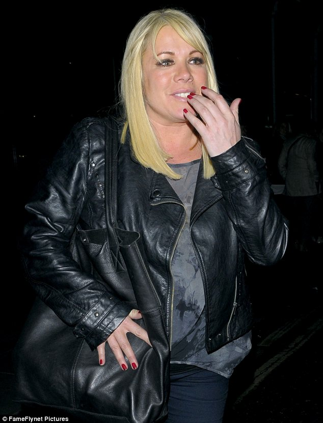 Night on the town: Letitia Dean enjoyed a night out at the Groucho Club in London on Saturday night