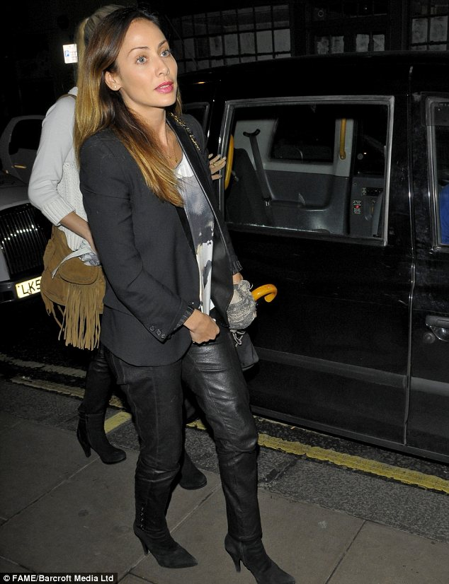 Lovely in leather: Natalie Imbruglia also enjoyed an evening at Groucho on Saturday