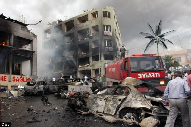 Syria's regime is being blamed after several explosions killed at least 40 people and injured dozens in Reyhanli, near Turkey's border with the war-torn country