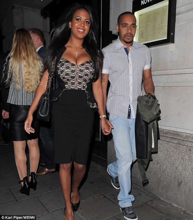 New man: TOWIE star Danni Park-Demspsey was also in London last night out and it seems she has a new boyfriend