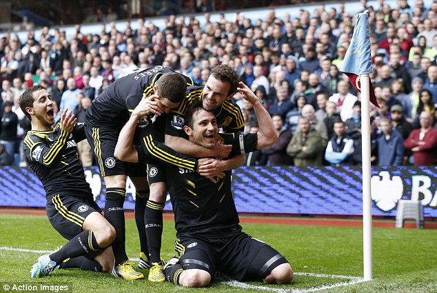 Record breaker: Frank Lampard became Chelsea's all-time record goalscorer yesterday, breaking Bobby Tambling's mark of 202