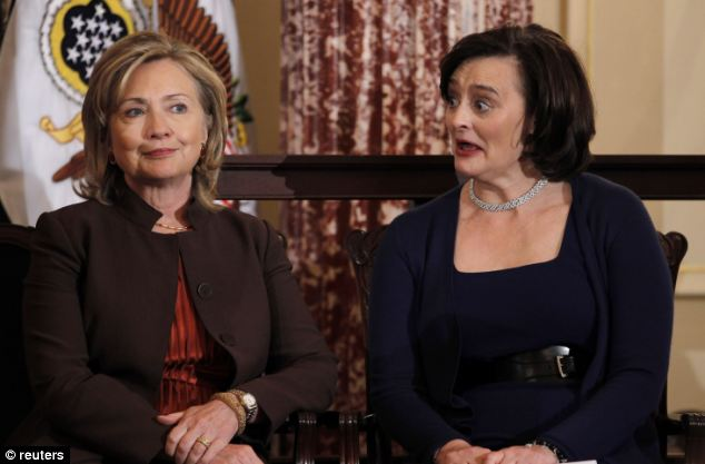 Hillary Clinton was Secretary of State when Mrs Blair's woman's charity was given a total of £405,000. It is said that Mrs Clinton would have been responsible for the cash