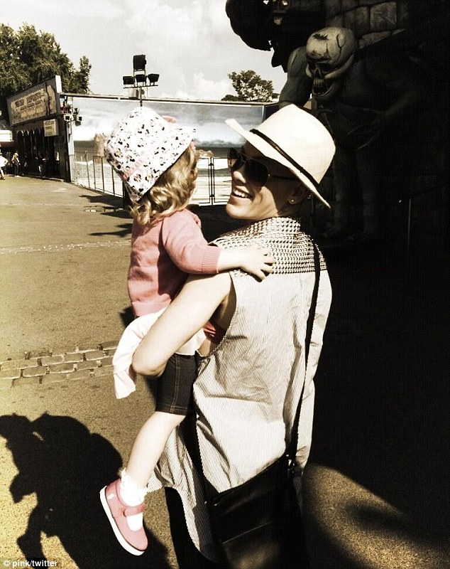 Just like mommy: Pink contributed a photo of herself with Willow Sage, her daughter with husband Carey Hart