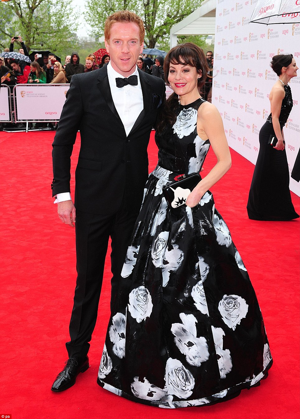 A beautiful couple: Helen McCrory and Damien Lewis were on the red carpet together adding further glamour to the illustrious event
