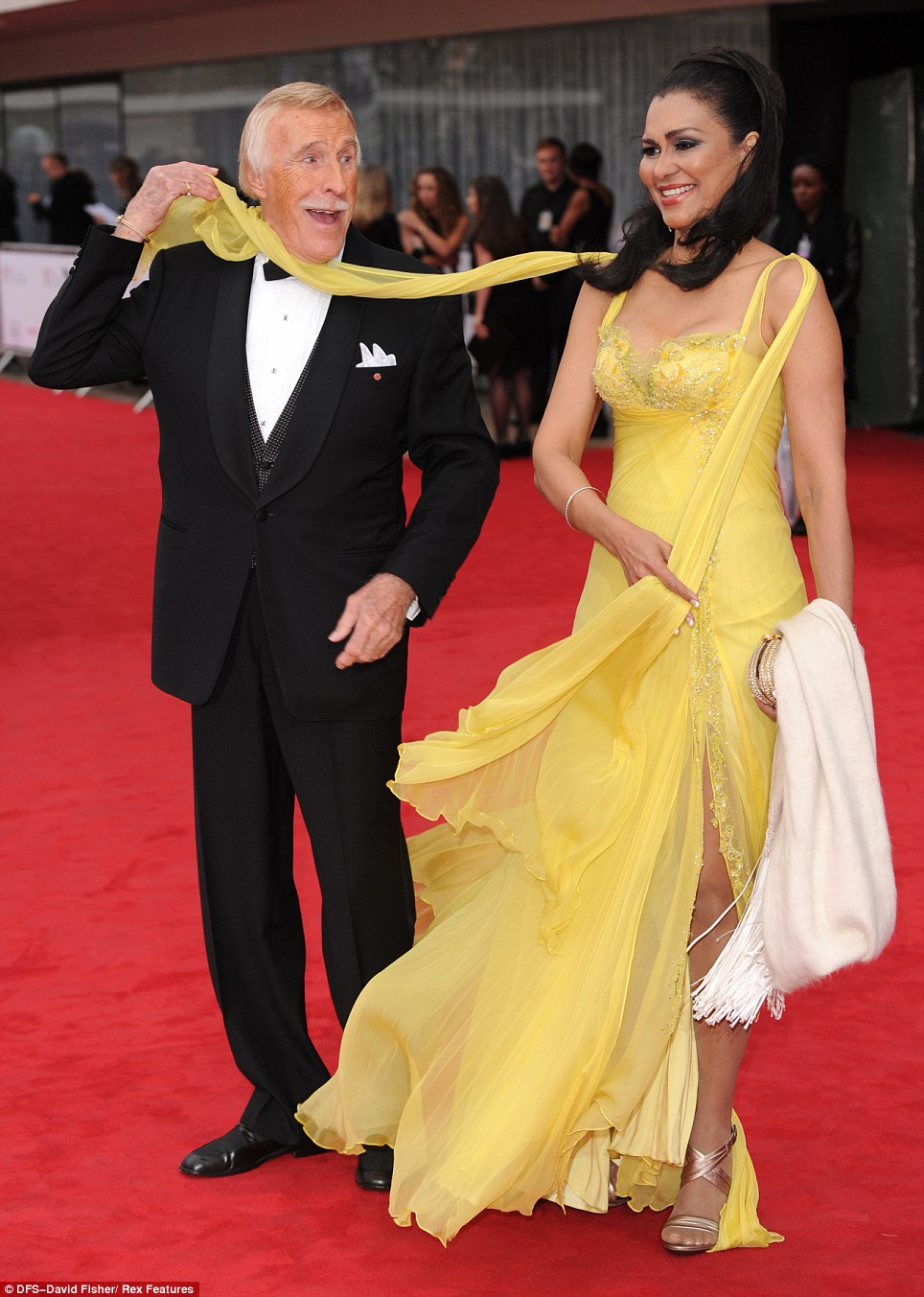 Nice to see you, to see you... Sir Bruce Forsyth got ready to play a trick on his wonderful wife, Wilnelia