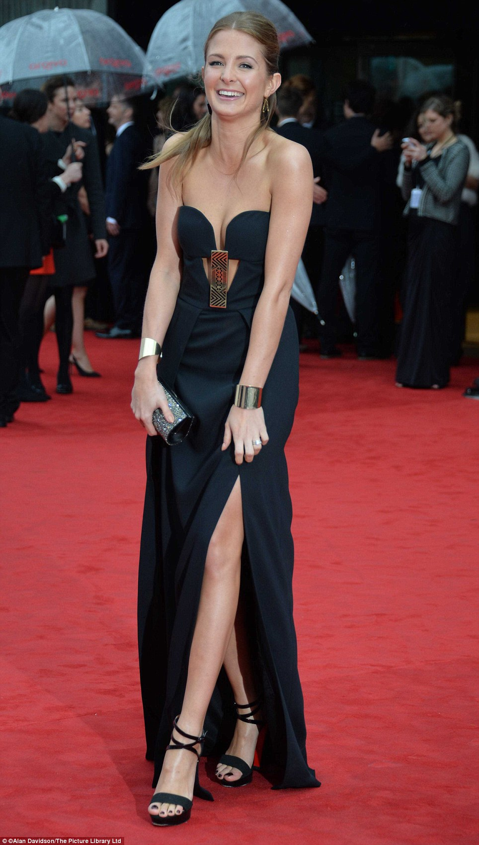 Simply beautiful: Made in Chelsea's Millie Mackintosh kept things classic in a sexy black dress