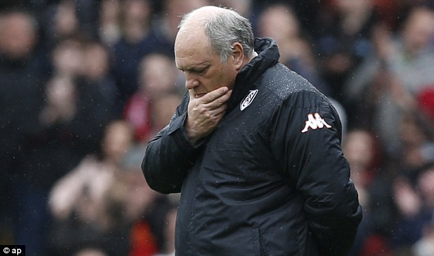 Disappointment: Despite securing survival, Fulham's season looks set to finish on a low note