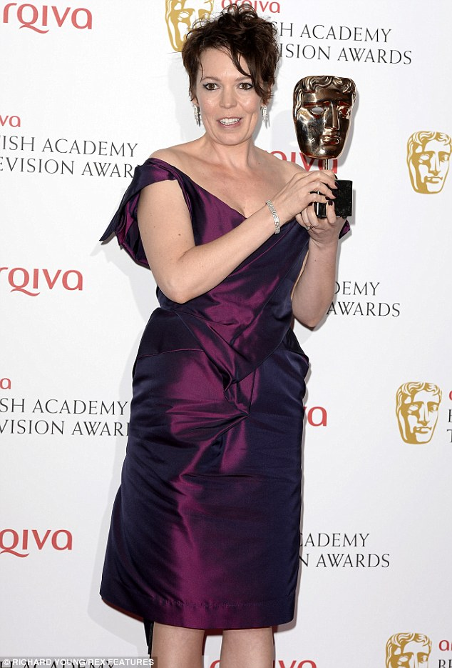Big winner! Olivia Colman was hailed at the TV Baftas on Sunday night as she won Best Supporting Actress and Female Performance in a Comedy Programme