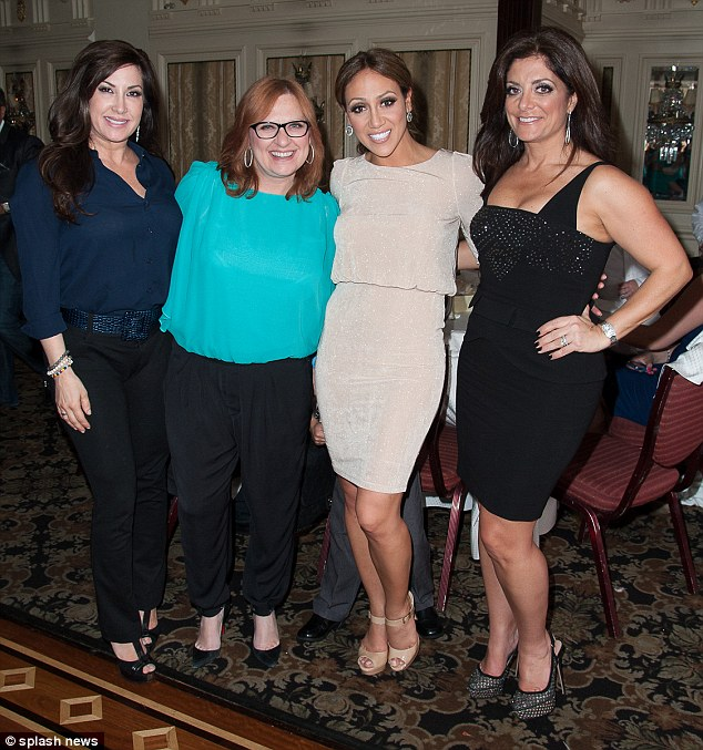 Not ones to miss a party: Melissa's fellow Real Housewives Jaqueline Laurita, Caroline Manzo and Kathy Wakile turned up