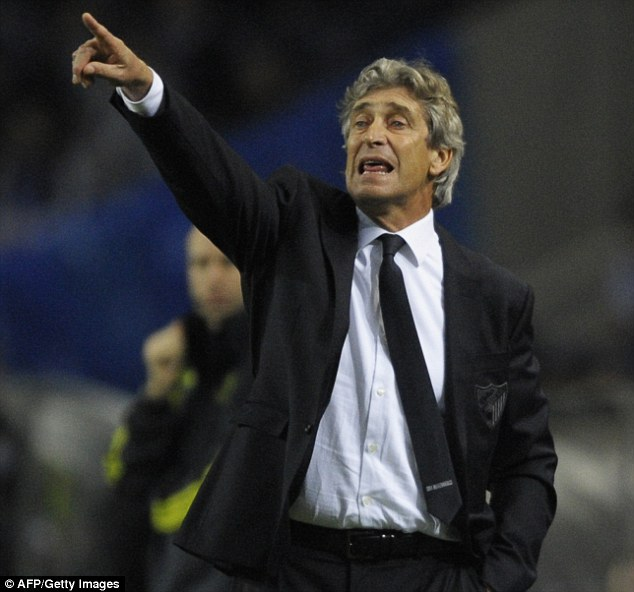 On his way: Manuel Pellegrini is poised to replace Roberto Mancini at Manchester City
