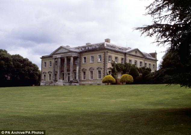 Stately home: Knatchbull's 60-room Broadlands estate in Romsey, Hampshire