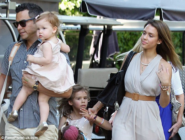 Mega-mother's day: Jessica Alba brought her mother Cathy along to celebrate Mother's Day brunch with her husband Cash Warren and two daughters at the Bel-Air Hotel