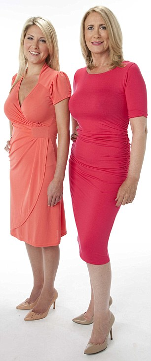 Mother and daughter Debbie and Jennie Thornton, who both had surgery to correct breasts they weren't happy with