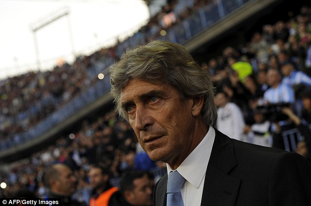 European pedigree: Manuel Pelligrini reached the semi-finals of the Champions League with Villarreal in 2005, the round of 16 with Real Madrid in 2010 and the quarter-finals with Malaga this year
