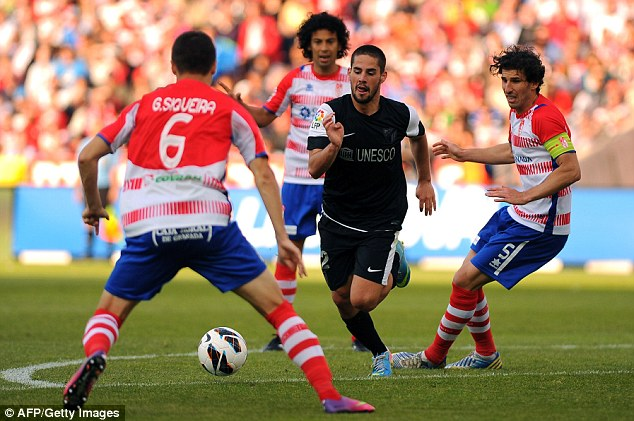 Playmaker: Pellegrini will be keen to take Isco with him to Manchester City, building his team around the 21-year, as he did at Villarreal with Juan Roman Riquelme and with Santi Cazorla at Malaga