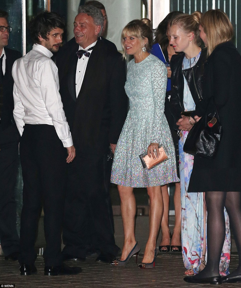 See you soon: Sienna was still in good spirits as she left the after party despite not being a winner