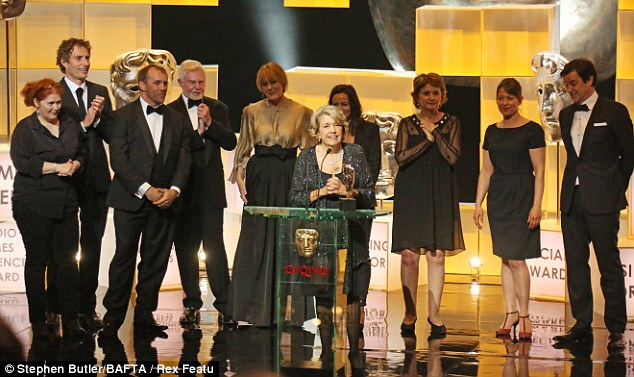 Claps all round: The cast of Last Tango In Halifax look ecstatic as they're named Best Drama Series