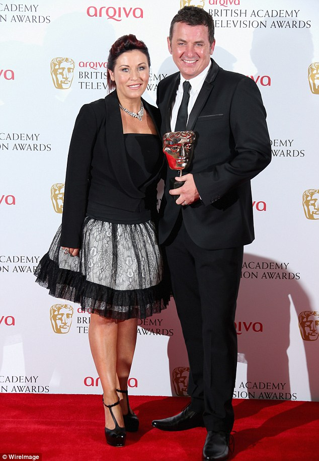 Celebrations: Jessie Wallace and Shane Richie pose together backstage after accepting the Best Soap gong for EastEnders