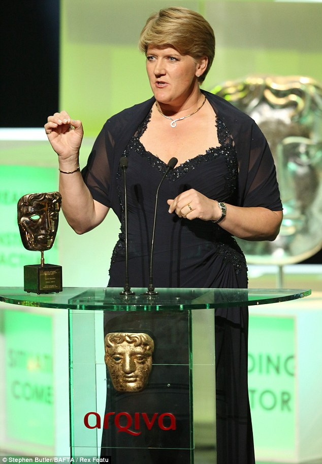 All hail Clare: Balding received the special award and was treated to a video montage of her best broadcasting moments over the years