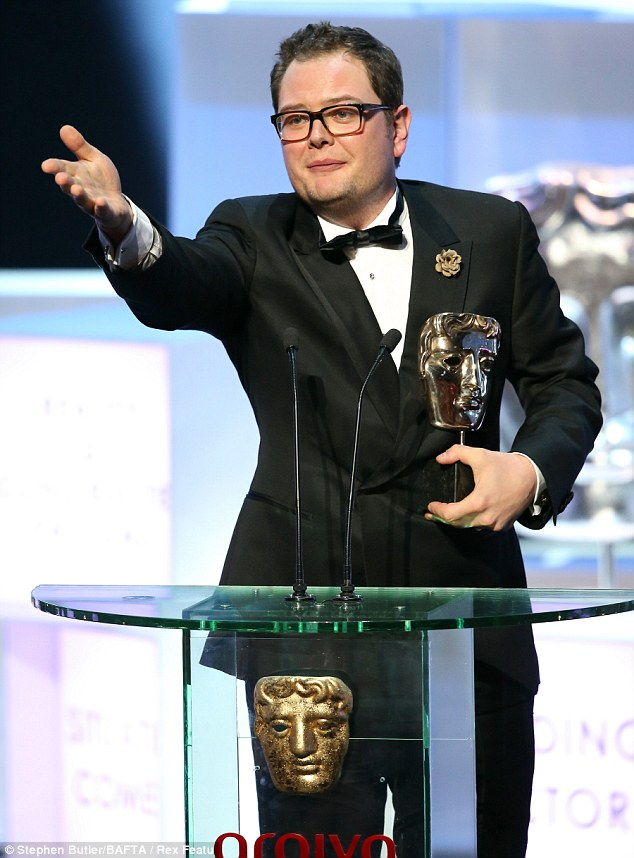 'I'm a Bafta winning moron': Alan Carr won his first Bafta, beating show host Graham Norton to the prize