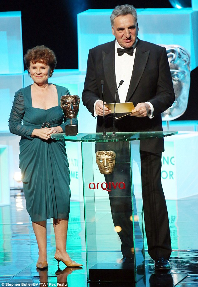 Husband and wife duo: Acting stalwarts Imelda Staunton and Jim Carter presented the award for Continuing Drama
