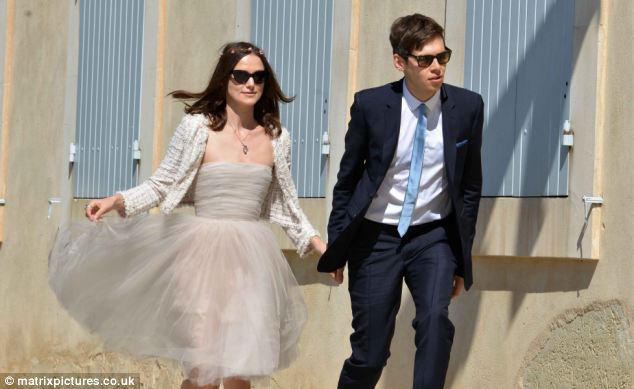 Low key: Only 12 guests were invited to Keira Knightley's wedding to Klaxons musician James Righton