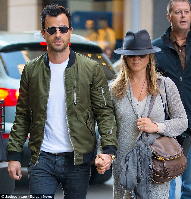 Nice rock: The Horrible Bosses star couldn't hide that big diamond ring on her engagement finger