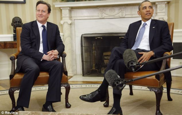 David Cameron is in Washington for talks with US President Barack Obama, but the trip has been overshadowed by questions over Tory splits back home over Europe