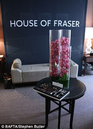 Dress to impress: House of Fraser set up backstage and offered the A-listers a pick of their favourite outfits