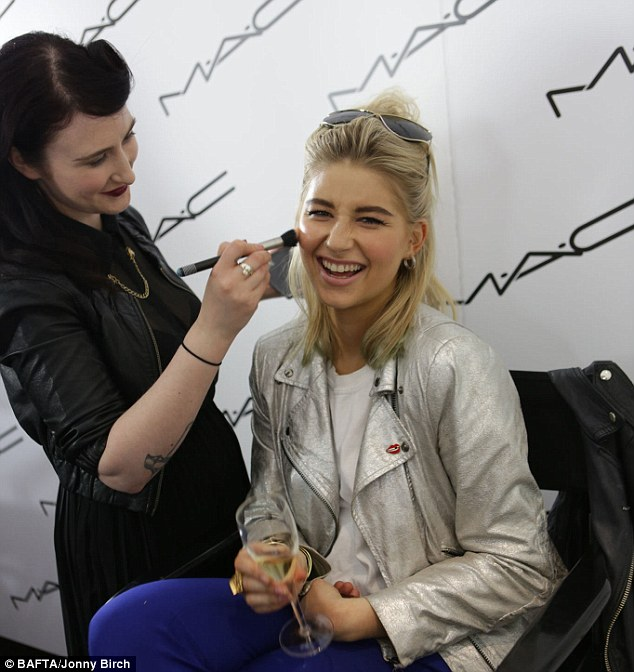 Making her up: Phoebe Lettice-Thompson from Made In Chelsea was treated to a makeover by MAC Cosmetics