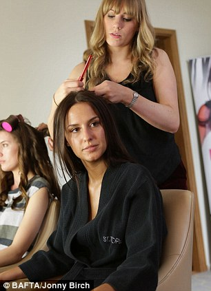 Made in Mark Hill: The team tended to the tresses of Lucy Watson and even Andy Jordan from Made In Chelsea ahead of the big event