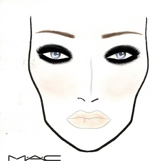 Face charts: These two face charts for Olivia Colman and Claudia Winkleman show that Great Gatsby glamour was the influence