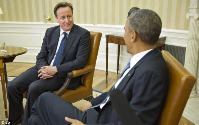 Mr Cameron was forced to slap down Tory ministers calling to leave the EU, ahead of talks with President Obama on tackling global tax avoidance and ending the conflict in Syria