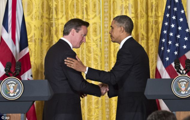 President Barack Obama provided back up for Prime Minister David Cameron at a joint news conference in the White House in which he echoed Cameron's stance on Britain's EU membership
