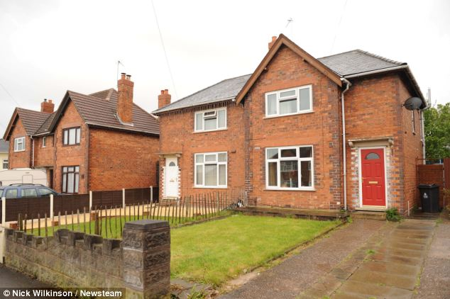Jodie Holden's home (right) in Walsall where her son was told to be 'mindful' of his neighbours