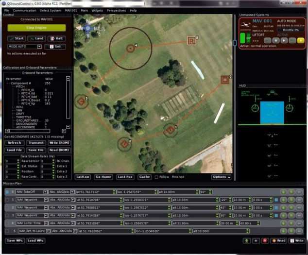 The drone is currently controlled via this mapping software, allowing it to be sent of preplanned routes. However, a future version will be able to track a mobile phone.